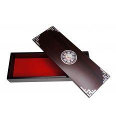Boîtier à crayons en bois nacré désign le yin et yang