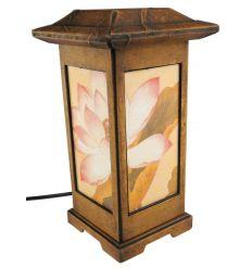Lampes en papier style lanterne avec une illustration de fleur