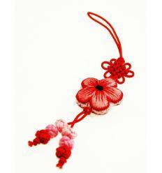 Pendentifs pour téléphone fleur en tissu rose