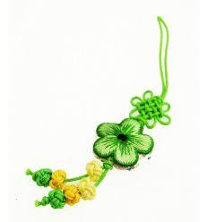 Pendentifs pour téléphone fleur en tissu vert