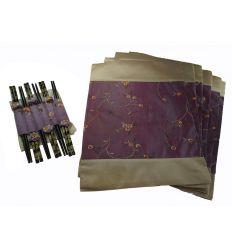 Set baguettes asiatique en bois Coréennes violet