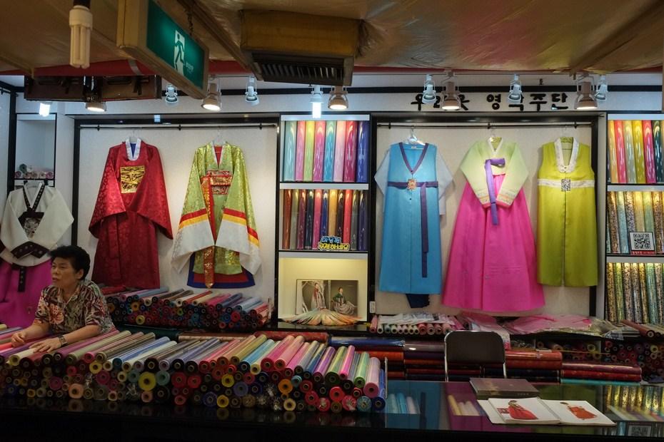 Le marché de tissu de Gwangjang et hambok 2