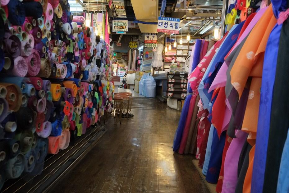 Le marché de tissu de Gwangjang et hambok 3