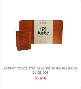 Extrait concentré de Ginseng rouge