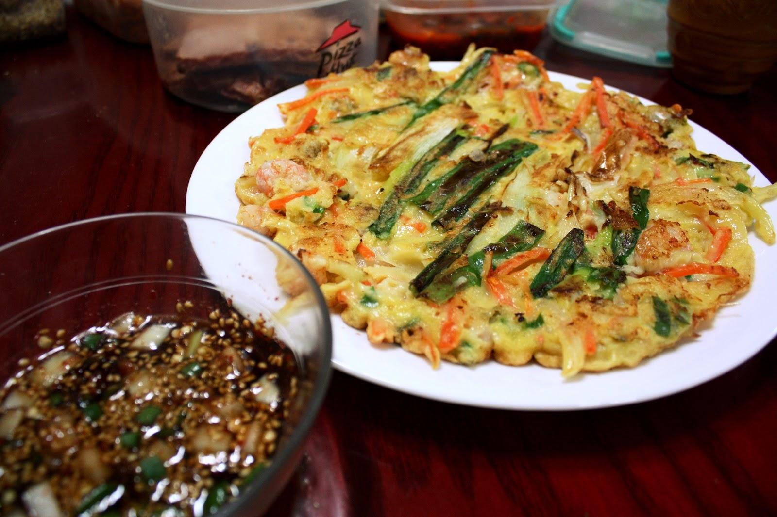Gâteau de fruits de mer de Corée