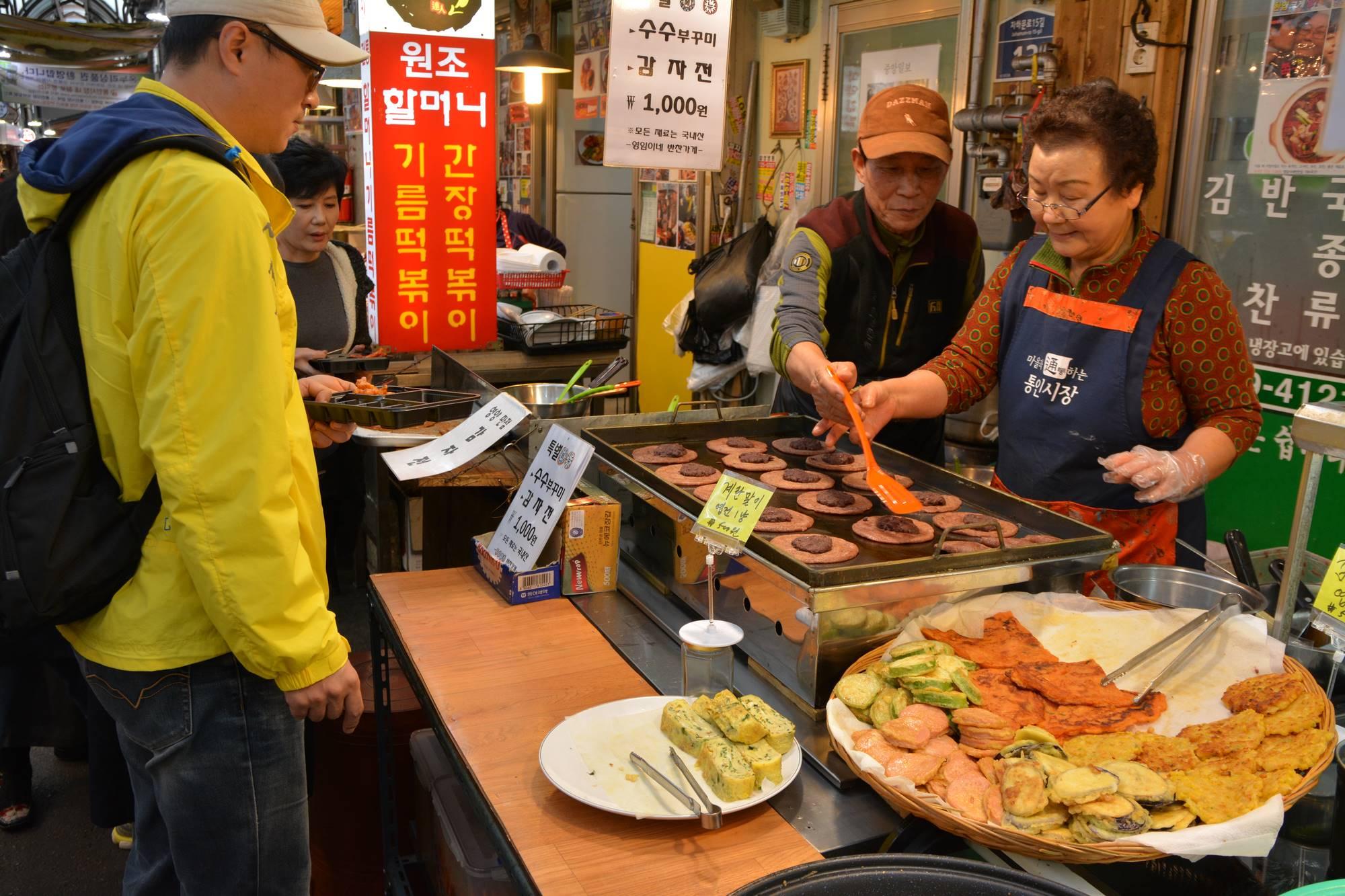 Stands de tongin market