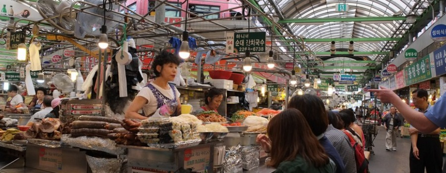 Le marché traditionnel de Gwangjang